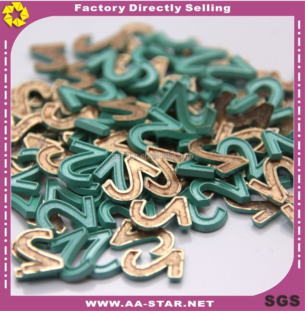 Pattern number 2 green zinc alloy rhinestone hotfix rhinestone to clothing decoration