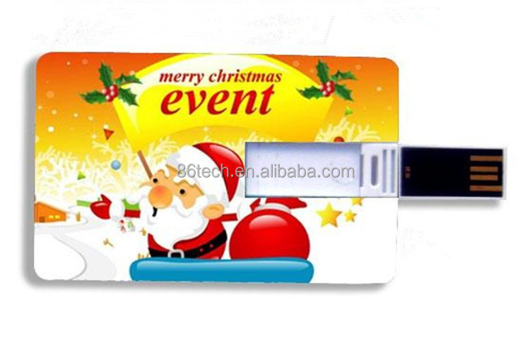 Christmas USB Card with USB 2.0 USB flash drives with dowload files custom photo and logo