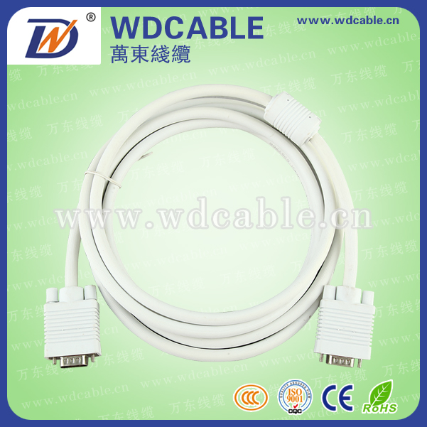 High Quality Male to Male VGA Cable 15 pin For Computer