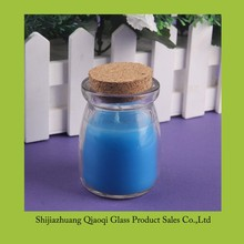 branded OEM scented candles in glass jar with cork top