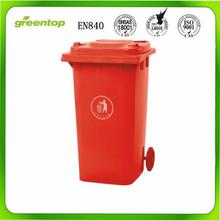 2017 New Design Customized Cheap 120 Liter Dustbin Plastic Garbage Bin With Wheels