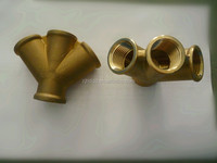 forged w-type 4 way brass fitting ,female thread pipe socket