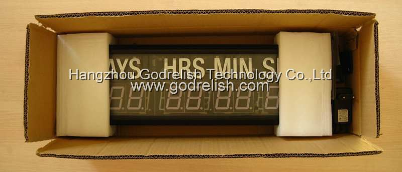 Hot selling outdoor sports led digital countdown clock with low price