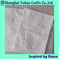 Household cotton shoe bag shoe pouch with printed logo&drawstring