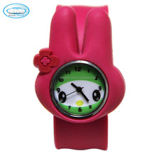 hot sale silicone children wrist watch, silicone slap watch for kids