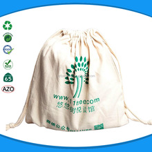 Customized high quality low price cotton jute sack drawstring bag