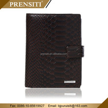 PRENSITI Manufacturers funky genuine crocodile leather trifold mens elastic Passport wallet