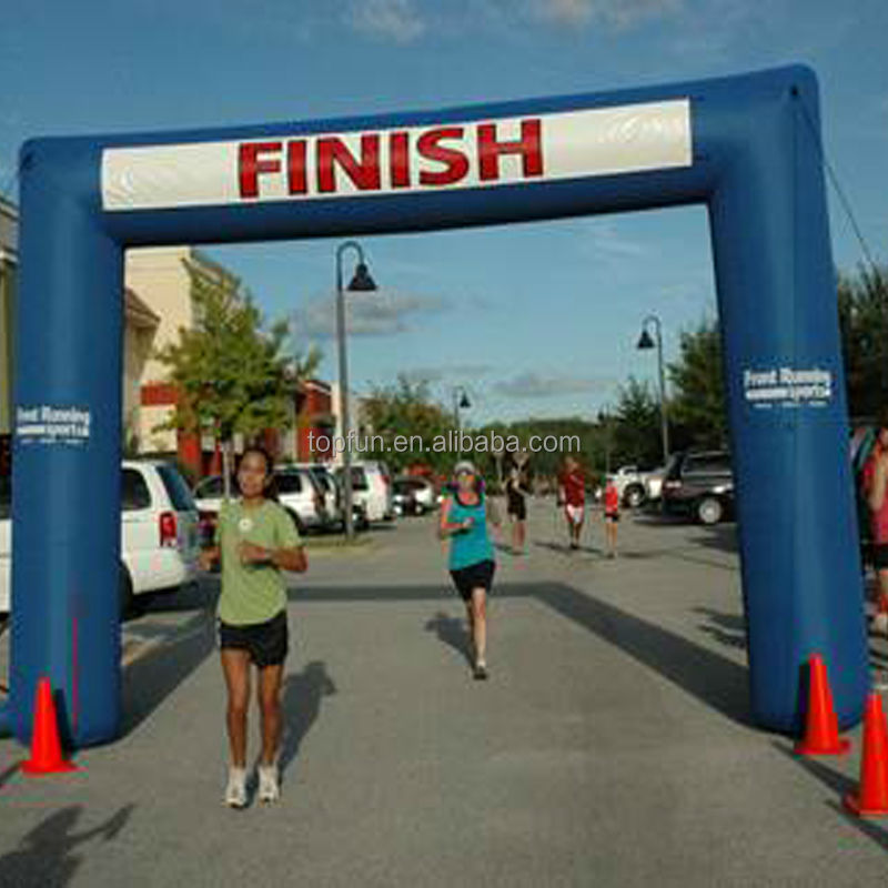 Arch Type Inflatable Arch For Sport Finish Line Race Advertising