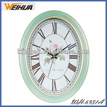 Oval shaped antique wall clock for Clocks For The Elderly