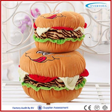 plush stuffed food toys hamburger cotton food plush