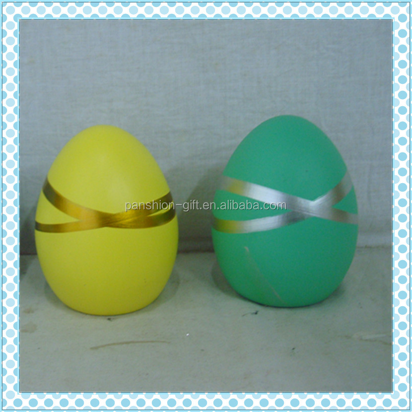 decorative gifts ceramic easter egg with decal
