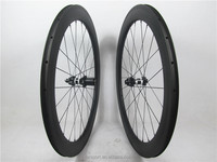 Farsports 700C carbon road wheels 60mm depth clincher carbon bike wheels tubeless compatible with DT350s disc hub