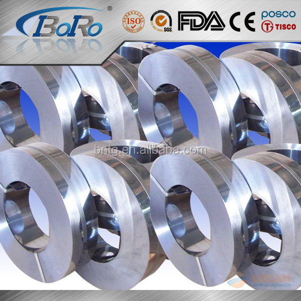 304 BA / 2B finish stainless steel narrow width coil / strip for kitchen utensils