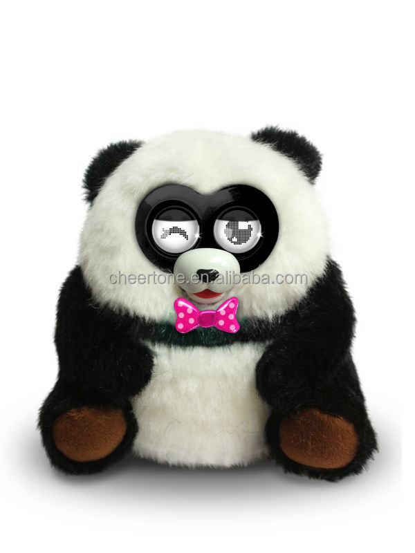 2014 hottest china import toys pet panda with 4AA batteries control and touch function