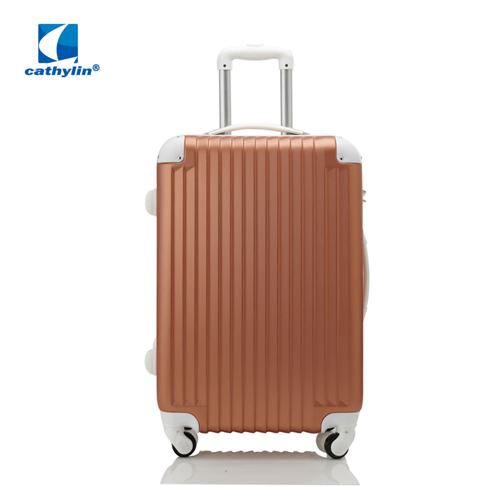 New design development cheap good quality PC ABS trolley four wheels diamond customized printed luggage