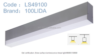 1200mm CE ROHS ETL led linear light,suspension fixture aluminum profile housing 49MM*10MM