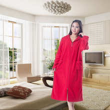 Hot Selling Luxury Polyester turkish Coral Fleece bathrobe