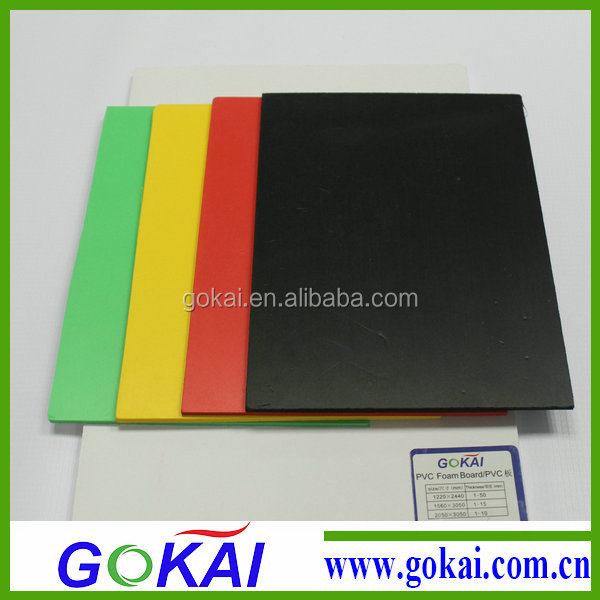 High density pvc rigid sheet with different colour
