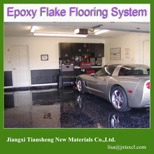 concrete Polymer Flake Garage floor epoxy coating