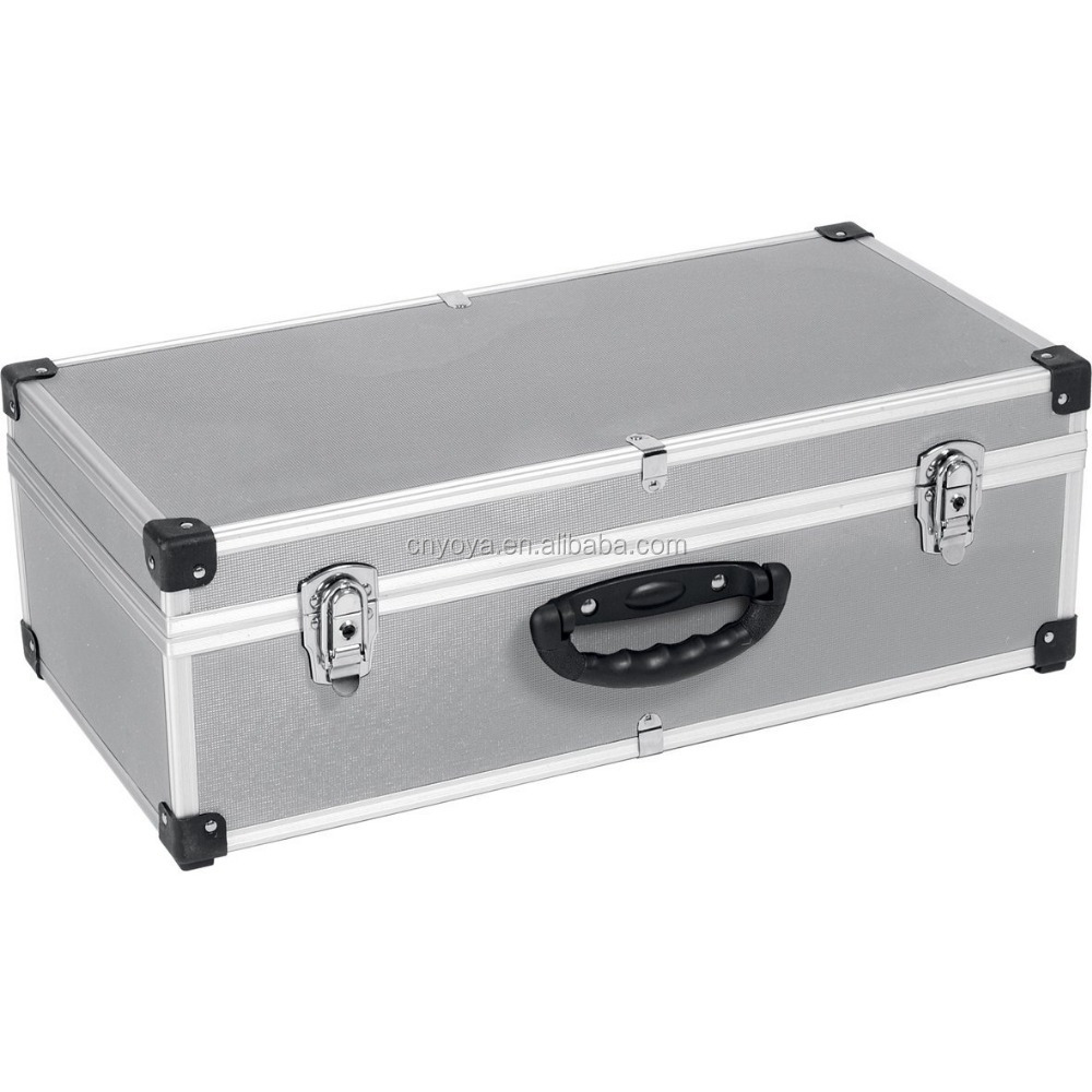 The newest Silver 80 CD Aluminium Storage Flight Case Tool Box Carry Case
