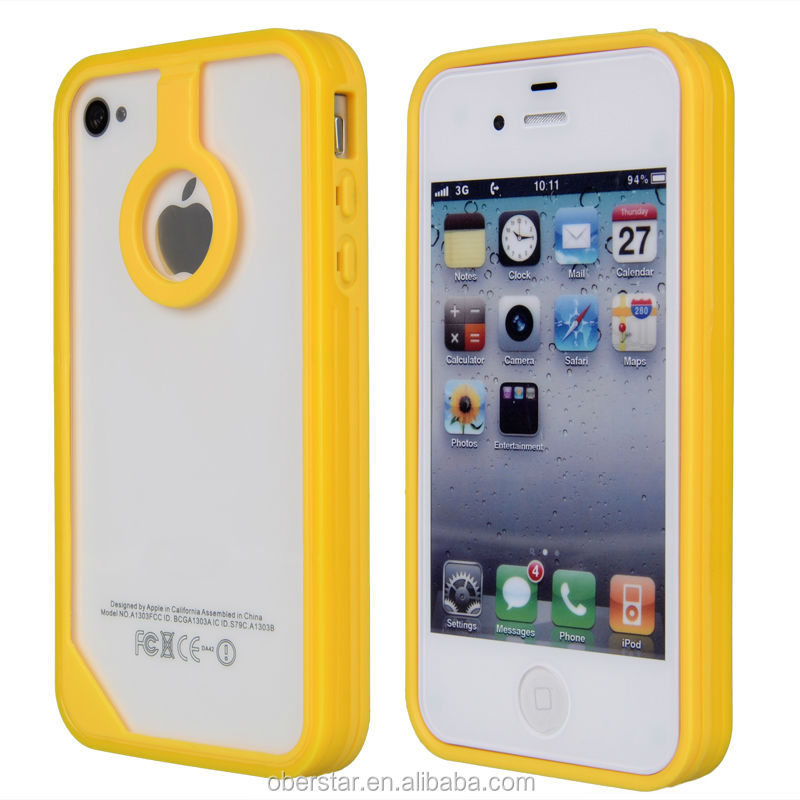 New For Apple iPhone 4 4S Silicone Gel TPU Bumper Mobile Phone Case Cover
