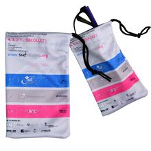 microfiber cleaning pouch for eyeglass
