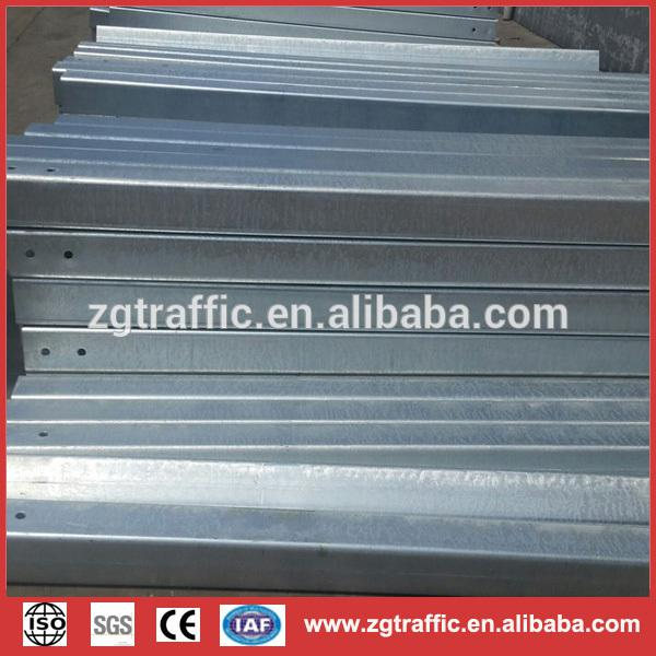 Galvanized steel fencing post