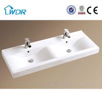 Ceramic basin + solid wood cabinet good price bathroom vanities with mirror