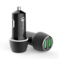 Dual QC3.0 Qualcomm quick charge 3.0 car charger for mobile phone