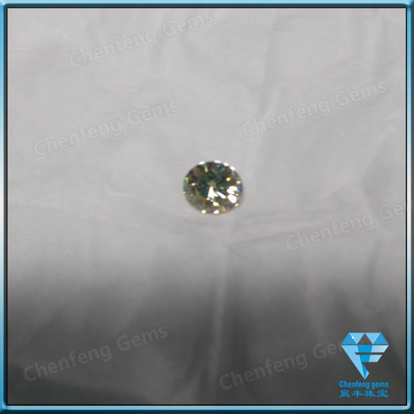 round diamond cut synthetic moissanite (test diamond pen)