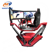 Mantong Merryland Cheap Price CE Certificate 3 screens dirt dynamic seats car driving racing simulator