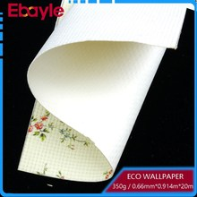 350g Straw Weaving bamboo/leaf/brick pattern Wallpaper with White colour