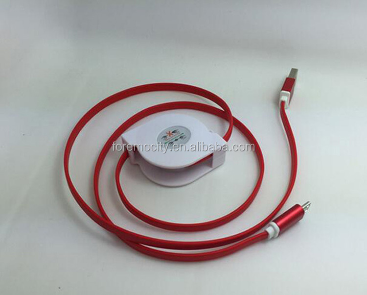 2017 China Best Sale USB Telescopic Extension Cord Retractable Cable USB line Micro USb charging cable