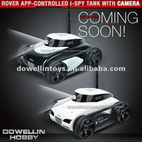 2013 Hot New Toys!! Rover App-Controlled wifi 4Ch Tank With Camera for iPhone, iPod Touch and iPad/RC Toy Car