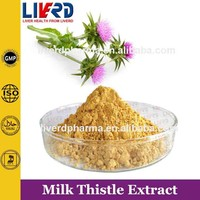Herbal Extracts Silybum Marianum Powder and Milk Thistle Oil