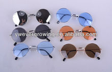Halloween props Golden Frame Round Sunglasses Hippy glasses Shades Lennon Ozzy 60s 70s Vintage