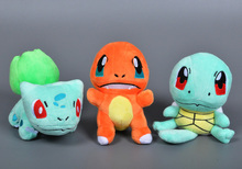 3 Designs Pokemon XY Plush toy Charmander Squirtle stuffed collectibles doll toys for children gift Cartoon one piece anime