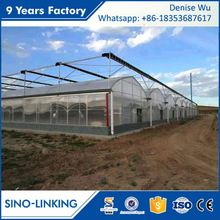 SINOLINKING Best Price plastic film greenhouse farming equipment for vegetable fruits