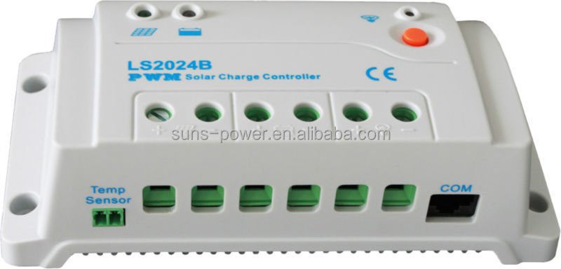 2017 new 12V/24V system voltage auto identification solar charge controller with light & timer control