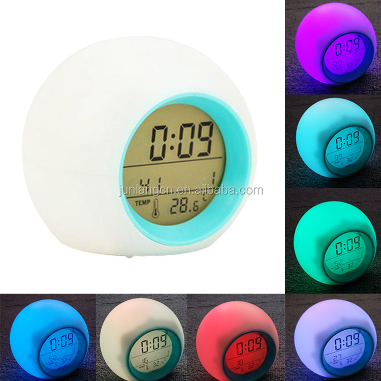 New Arrive Sublimation Blanks LED Color Change Digital Alarm Clock