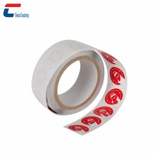 Roll packing free sample printable NFC white sticker RFID UHF blank label tag for plant production line