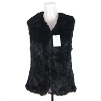 Fashion Women Fur Gilet/Rabbit Knit Winter Fur Vest KZ14026