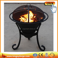 Outdoor cup clay cast iron chiminea