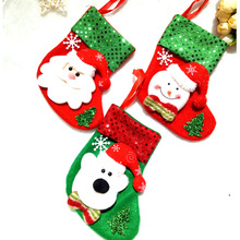 2017 Large Wholesale Christmas Stocking, Lovely Christmas Socks for christmas decoration and gift