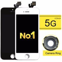 Cheap on sale phone parts for iphone 5 color lcd digitizer assembly
