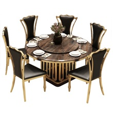 modern Style marble <strong>Table</strong> and Chairs Sets for 4/6/8 /10 Persons stainless steel Kitchen Dining Room Furniture multifunction