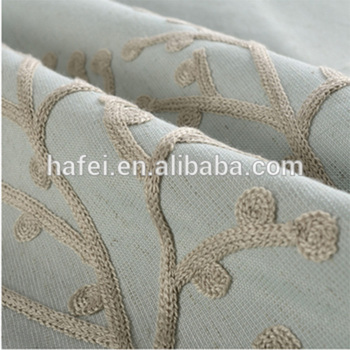 Hafei Plant Design embroidered cotton and linen fabric Curtain blackout window treatment