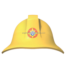 Yellow fireman sam paper card party hats childs plastic toy CH2165