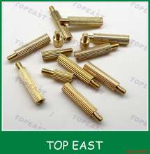 M2 knurled head round copper pillar 2mm single copper wire barrier stud for monitoring security cameras