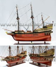 GALLEON GOLDEN HIND WOODEN TALL SHIP MODEL - WOODEN HISTORIC SHIP
